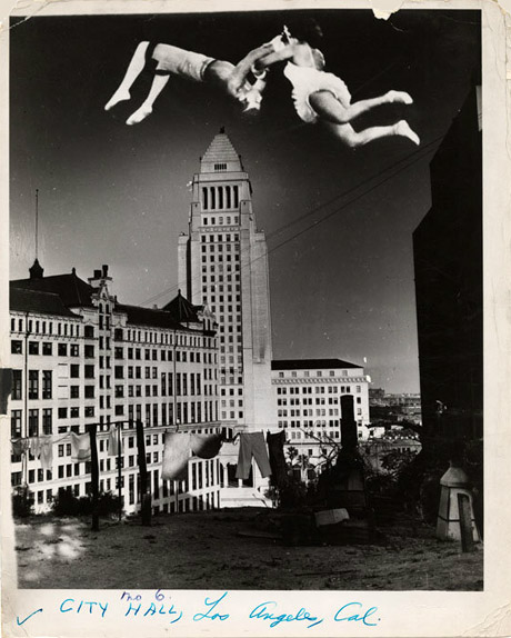 L.A. City Hall by Weegee