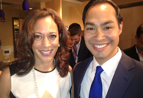 Kamala Harris and Julian Castro